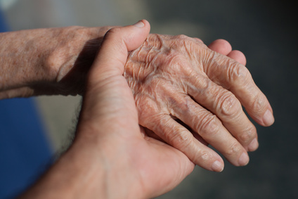 Hands of an elderly.